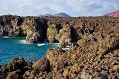 Los Hervideros, Lanzarote Royalty-vrije Stock Afbeelding