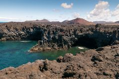 Los Hervideros, Lanzarote stock photos