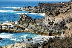 Los Hervideros, Lanzarote, in the Canary Islands royalty free stock image