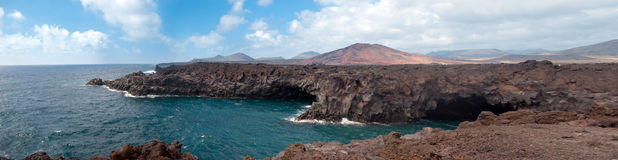 Los hervideros, lanzarote, canary islands Royalty Free Stock Photography