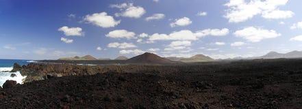 Los Hervideros, Lanzarote, kanariefågelöar Royaltyfri Fotografi
