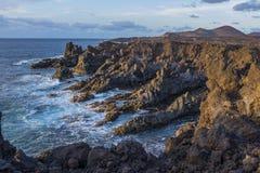 ? Los Hervideros, Lanzarote, Kanarische Inseln, Spanien stockbild