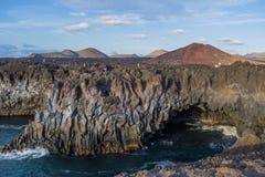 Los Hervideros, Lanzarote, Kanarische Inseln, Spanien lizenzfreie stockfotografie