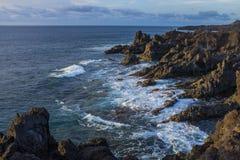 Los Hervideros, Lanzarote, Kanarische Inseln, Spanien stockbilder