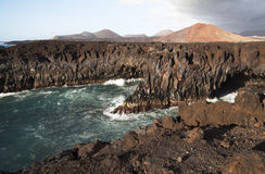 Los Hervideros in Lanzarote Spain Stock Photography