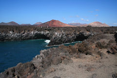Los Hervideros, Lanzarote, Spain Stock Images