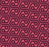 Los hexágonos de Seamles resumen el modelo geométrico - vector eps8 Foto de archivo libre de regalías