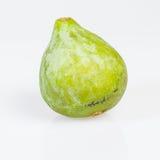 Los higos verdes frescos escogieron maduro en blanco Foto de archivo libre de regalías