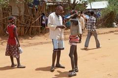 Los hombres africanos están hablando Fotografía de archivo libre de regalías