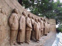 Los hombres de la estatua de libertad Imagenes de archivo