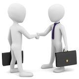 los hombres de negocios 3d saludan. Imagen de archivo libre de regalías