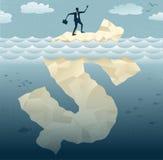 Los hombres de negocios abstractos encuentran la extremidad del dólar Ic ilustración del vector