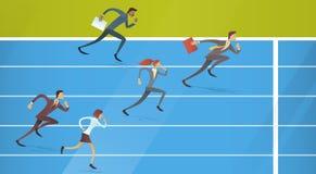 Los hombres de negocios agrupan el funcionamiento Team Leader Competition Concept Imagen de archivo libre de regalías