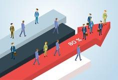 Los hombres de negocios agrupan a los empresarios financieros derechos Team Success Concept Growth Chart de la flecha Imagen de archivo libre de regalías