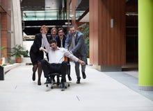 Los hombres de negocios agrupan se divierten Fotos de archivo libres de regalías