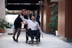 Los hombres de negocios agrupan se divierten Imagen de archivo libre de regalías