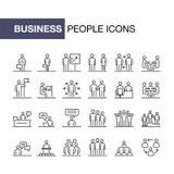 Los hombres de negocios de los iconos fijaron la línea simple ejemplo plano libre illustration