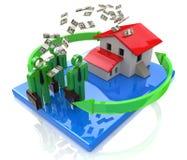 Los hombres de negocios invierten en propiedades inmobiliarias Imágenes de archivo libres de regalías