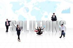 Soluciones globales del negocio Imagen de archivo libre de regalías