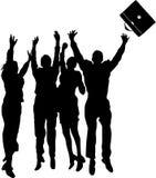 Los hombres de negocios saltan Foto de archivo libre de regalías