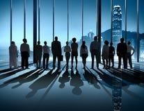 Los hombres de negocios siluetean el concepto delantero de Vision de la manera stock de ilustración