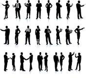 Los hombres de negocios siluetean el conjunto estupendo Foto de archivo libre de regalías