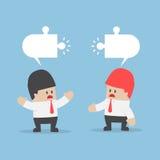 Los hombres de negocios tienen diversa opinión Imagen de archivo libre de regalías
