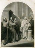 Los hombres del ácaro de la viuda y el ejemplo antiguo de la mujer libre illustration