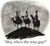 Los hombres sabios son los sabelotodos Foto de archivo libre de regalías