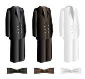 Los hombres se adaptan y el sistema de la corbata ilustración del vector