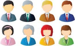 Los hombres y las mujeres vector los iconos para los diseñadores Fotografía de archivo