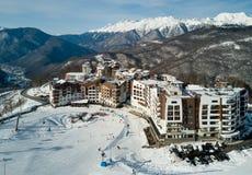 Los hoteles en las montañas en Sochi Imagenes de archivo