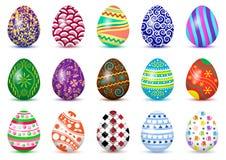 Los huevos de Pascua colorearon los ornamentos, vector ilustración del vector
