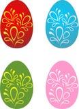 Los huevos de Pascua fijaron 1 Fotografía de archivo libre de regalías