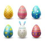 Los huevos de Pascua pintados con el modelo de la primavera vector el ejemplo stock de ilustración