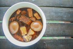 Los huevos guisaron la comida Tailandia Imagen de archivo