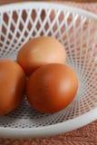 Los huevos se cierran para arriba Foto de archivo libre de regalías