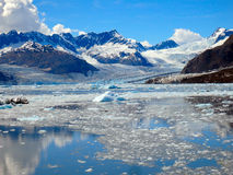 Los icebergs y las masas de hielo flotante en el príncipe Guillermo suenan Fotos de archivo
