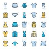 Los iconos aislados ropa del vector fijaron que pueden ser modificados o corregir fácilmente libre illustration