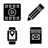 Los iconos de comunicaci?n de datos embalan ilustración del vector