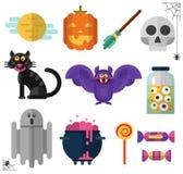 Los iconos de Halloween Fotografía de archivo libre de regalías