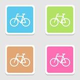 Los iconos de la bicicleta fijaron grande para cualquier uso Vector eps10 Fotos de archivo libres de regalías