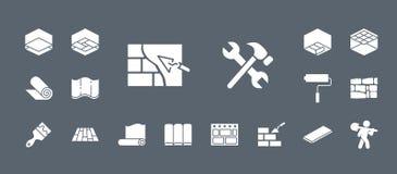 Los iconos de la construcción y de la reparación - fije la web y el móvil 05 ilustración del vector