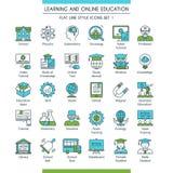 Los iconos de la educación fijaron 01 Fotos de archivo