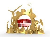 Los iconos de la energía y del poder fijaron con el texto de TTIP Foto de archivo libre de regalías