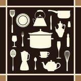 Los iconos de la herramienta de la cocina fijaron grande para cualquier uso Vector eps10 Imagenes de archivo