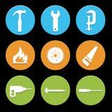 Los iconos de la herramienta fijaron grande para cualquier uso Vector eps10 Imagen de archivo