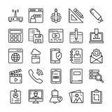 Los iconos de la interfaz de usuario embalan ilustración del vector