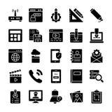 Los iconos de la interfaz de usuario embalan stock de ilustración