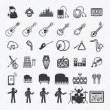 Los iconos de la música fijaron 2 Fotografía de archivo libre de regalías